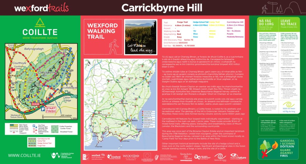 Download pdf link for Carrickbrne Hill walks.
